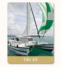 yacht charter on Tiki 30