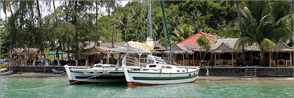 Ao Yon, the departure point for a yacht charter with Siam Sailing